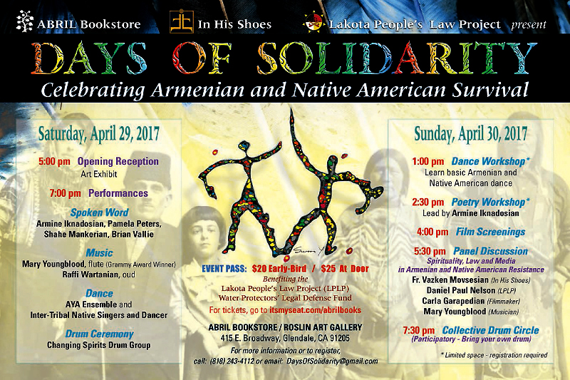 Days of Solidarity Celebrating Armenian and Native American Survival