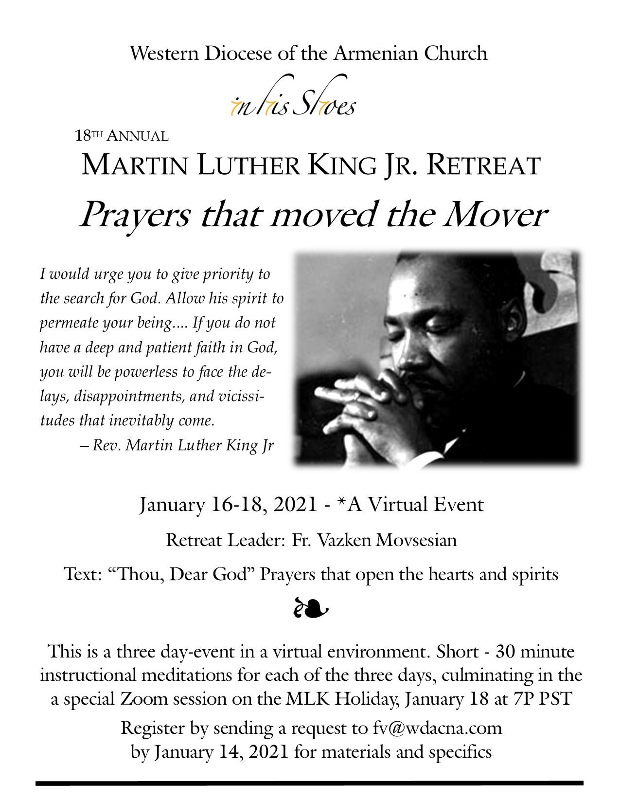 MLK Retreat 2021 - flyer